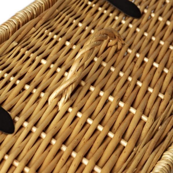 18 Inch Wicker Hamper Gift Basket - handle detail