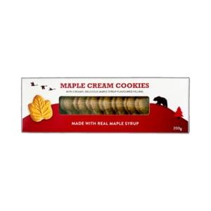 Pure Maple - Maple Cream Cookies (200g) - Classic Canadian maple leaf cream cookies